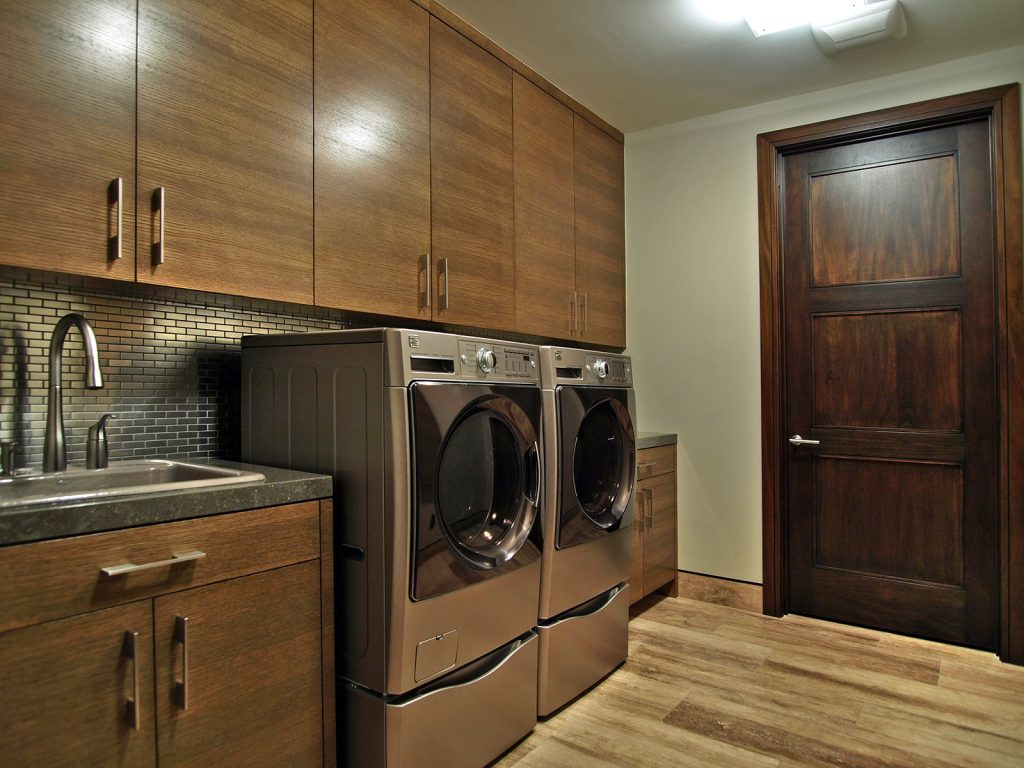 luxury custom home las vegas interior laundry area