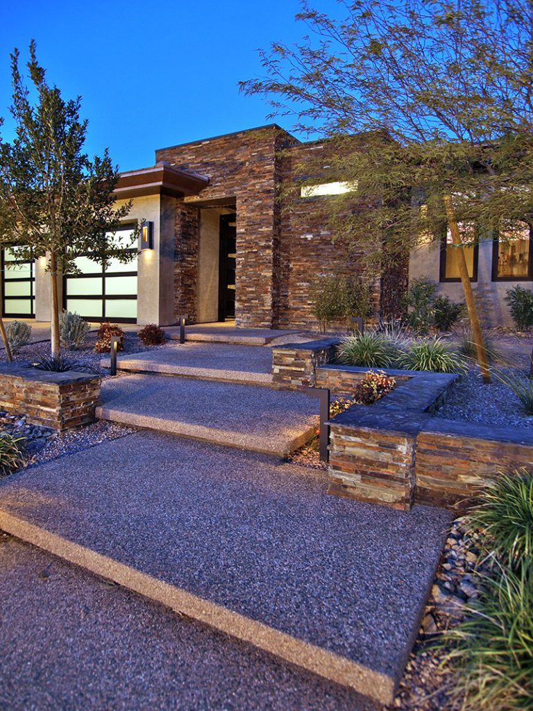 luxury custom home las vegas exterior entryway
