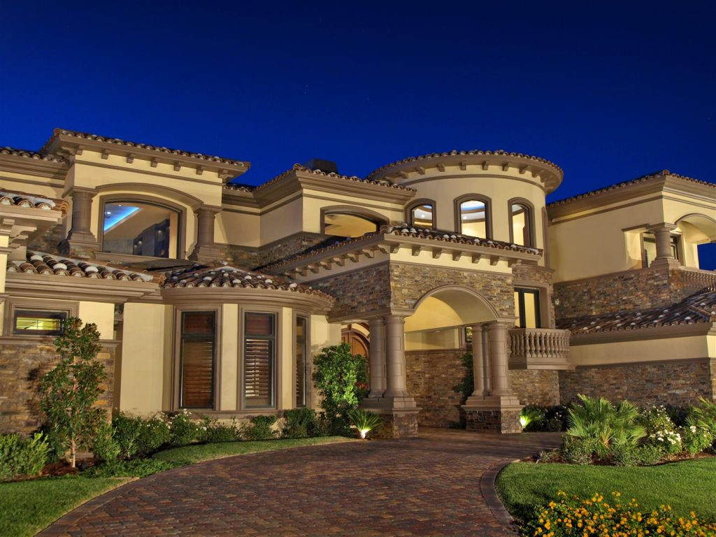 luxury custom home las vegas interior exterior driveway