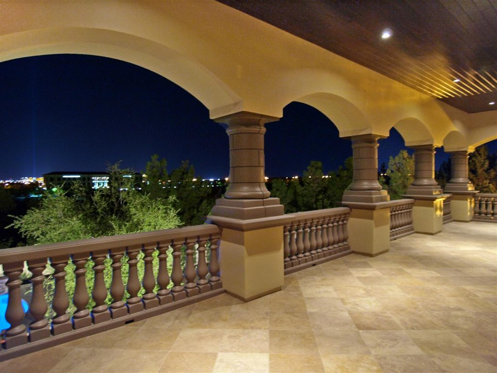 luxury custom home las vegas exterior balcony