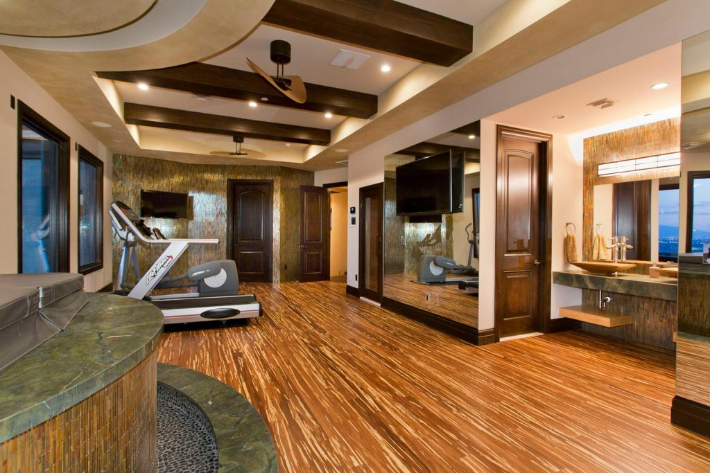 luxury custom home las vegas interior gym