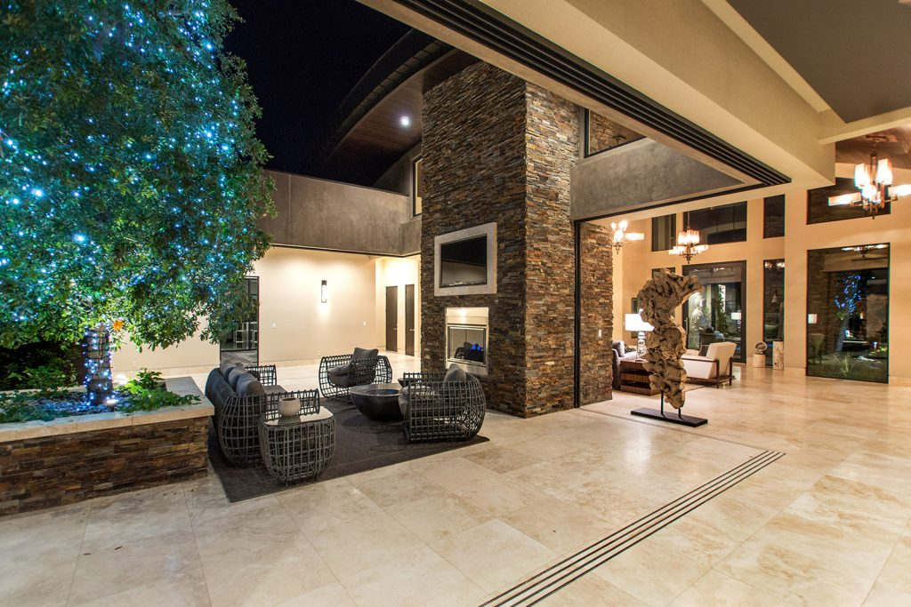 luxury custom home las vegas indoor outdoor living
