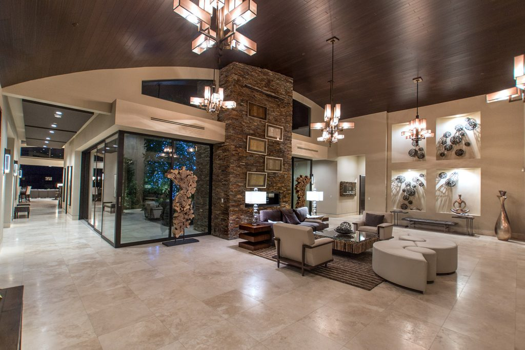 luxury custom home las vegas interior greeting room