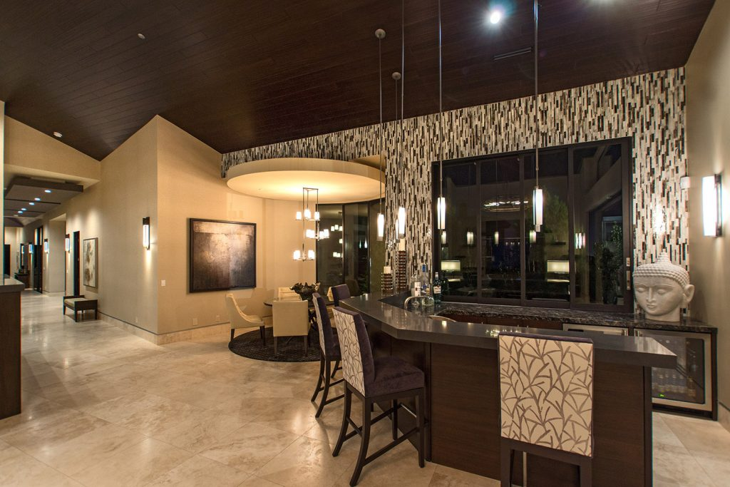 luxury custom home las vegas interior bar