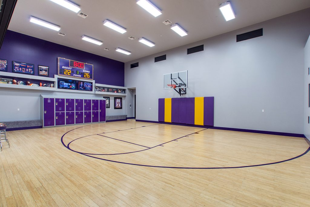 luxury custom home las vegas interior basketball court