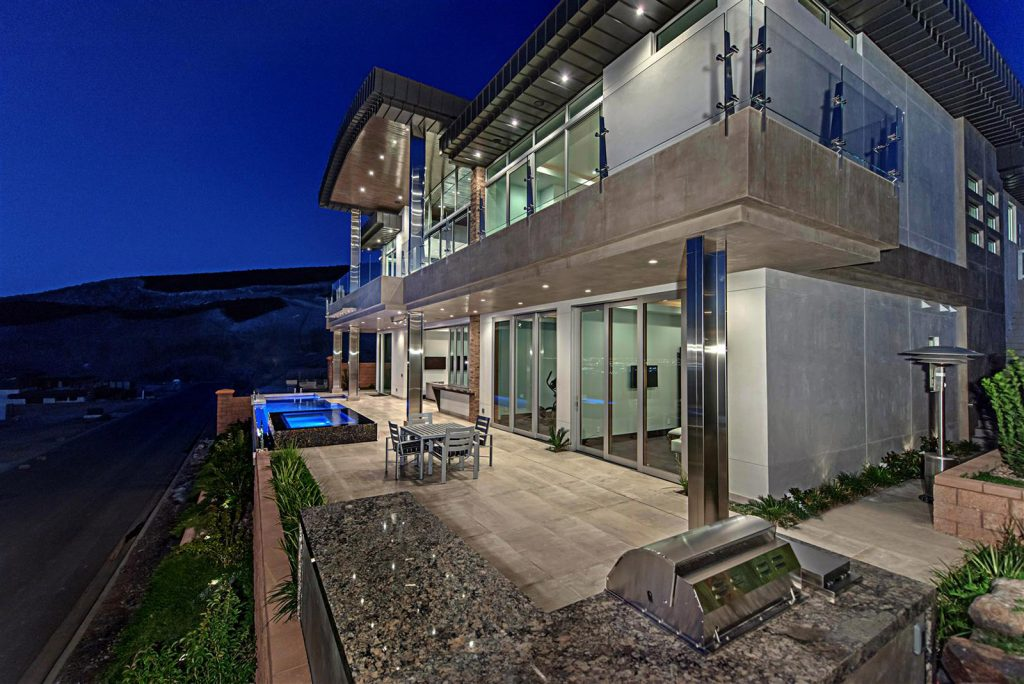 luxury custom home las vegas exterior pool
