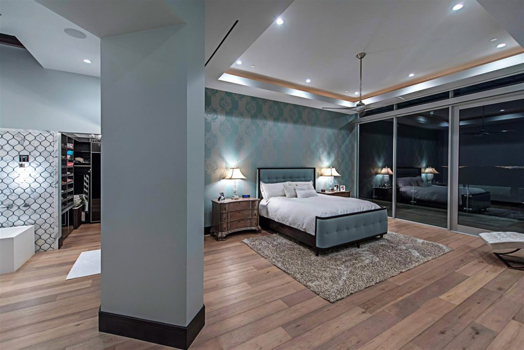 luxury custom home las vegas interior bedroom