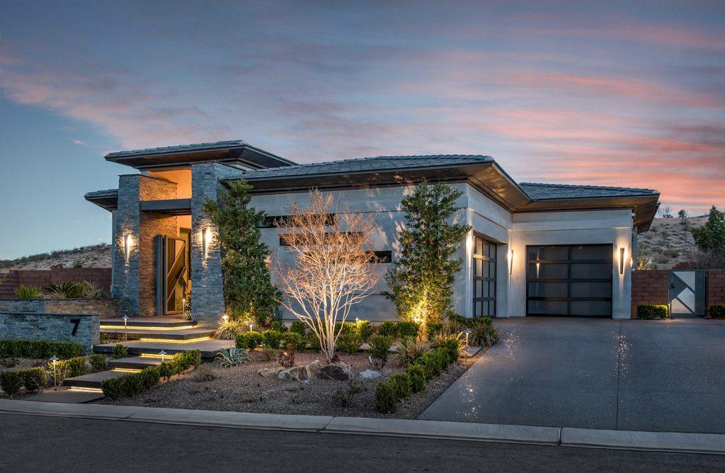 custom luxury las vegas home exterior entrance