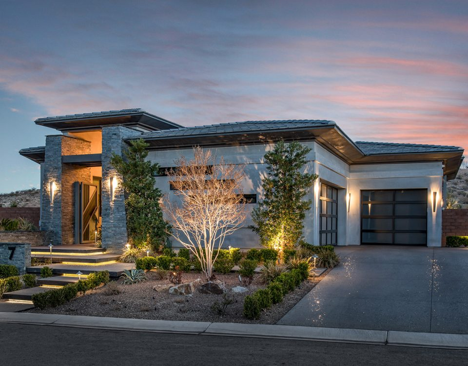 custom luxury las vegas home exterior entrance