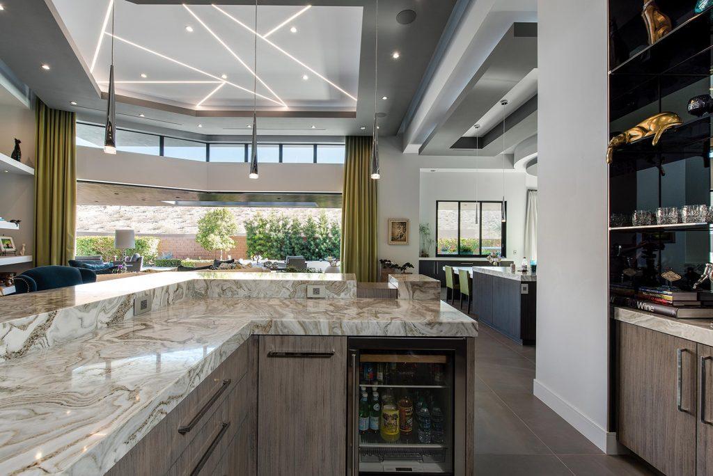 custom luxury las vegas home interior bar