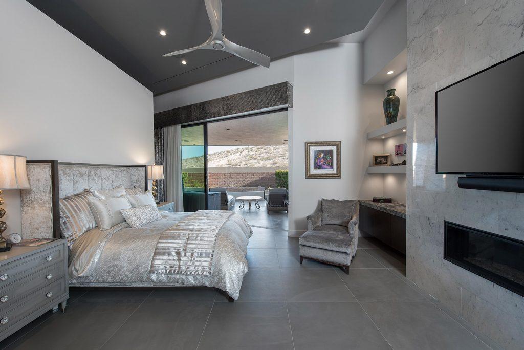 custom luxury las vegas home interior bedroom