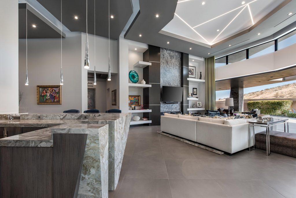 custom luxury las vegas home interior living room