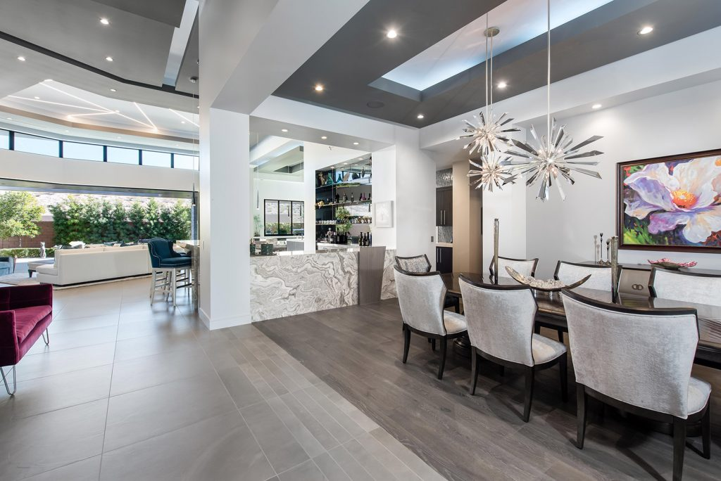 custom luxury las vegas home interior dining room