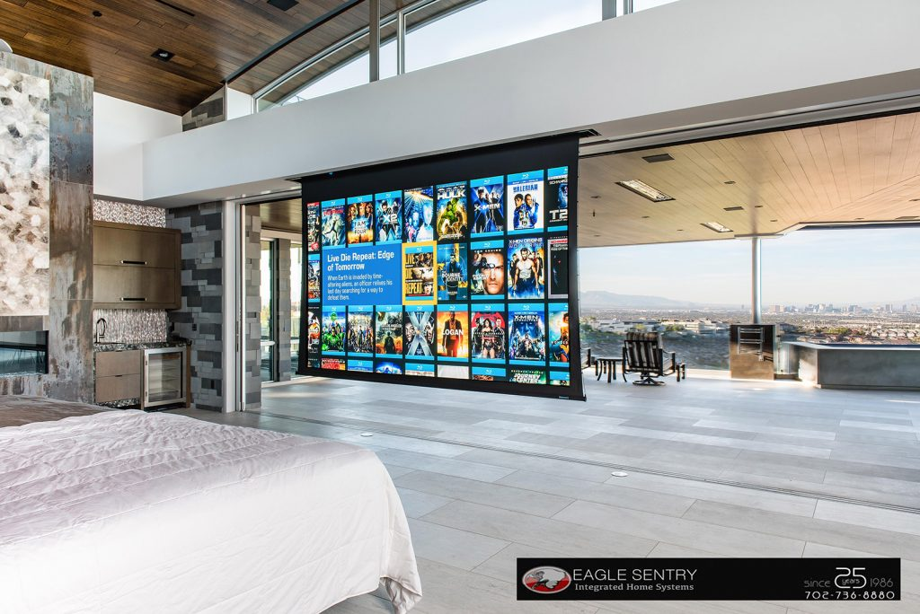 luxury las vegas home interior bedroom theater