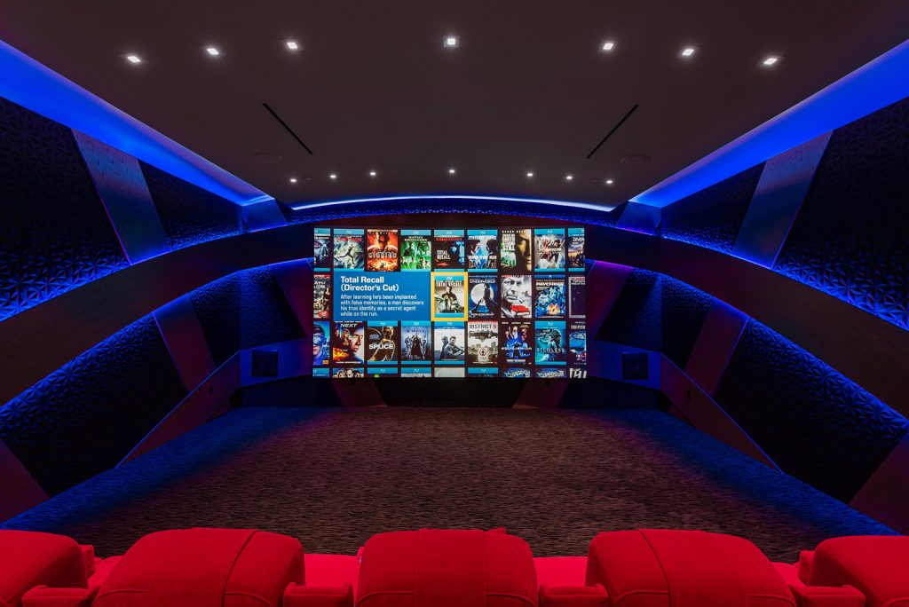 luxury las vegas home interior movie theater