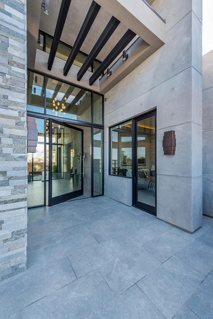 luxury custom home las vegas exterior entryway