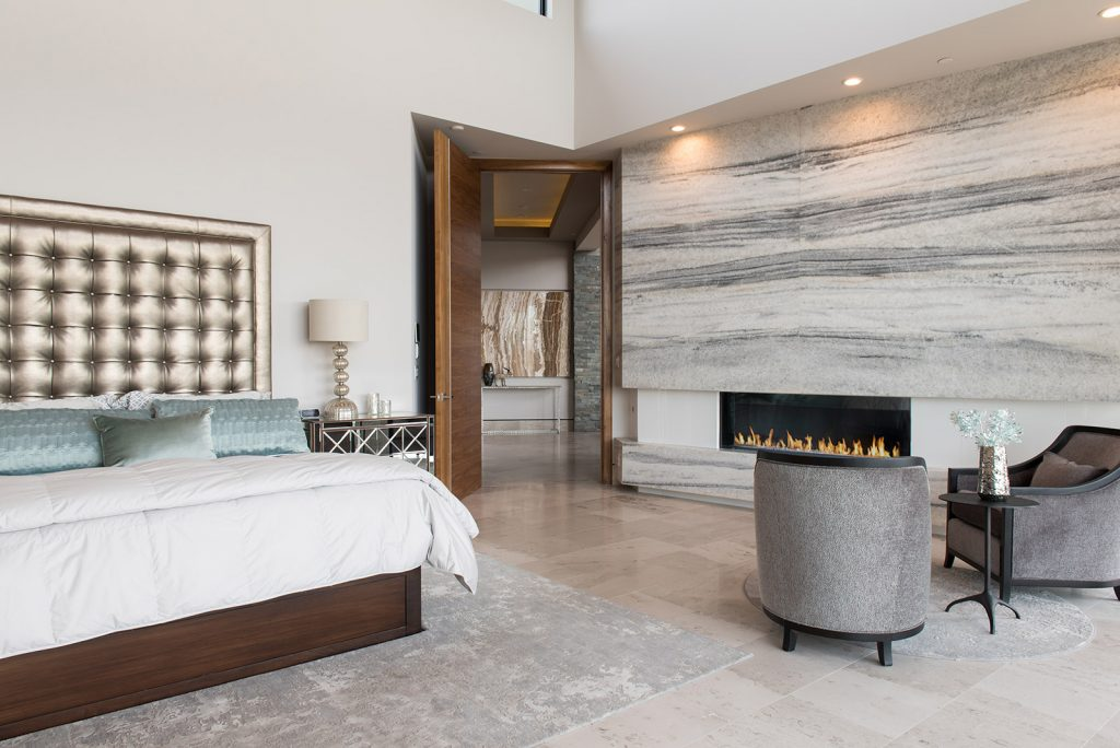 custom home las vegas interior bedroom