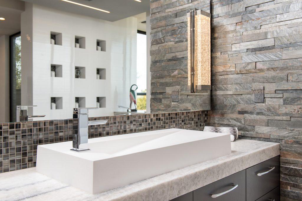 custom home marble sink